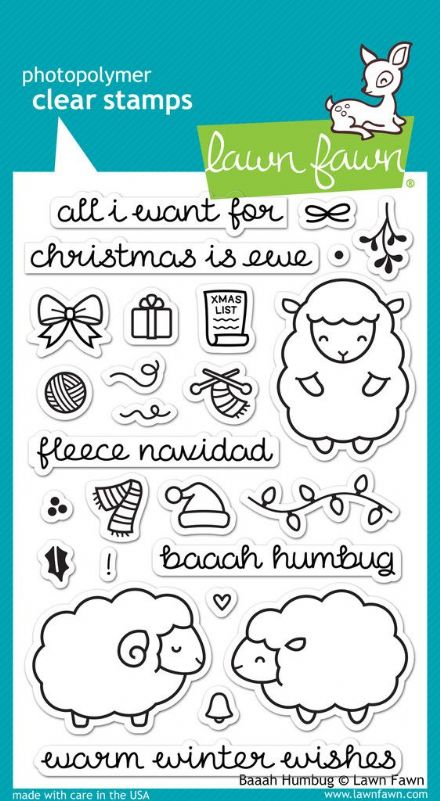 LF0939 ~ BAAAH HUMBUG ~ CLEAR STAMPS BY LAWN FAWN
